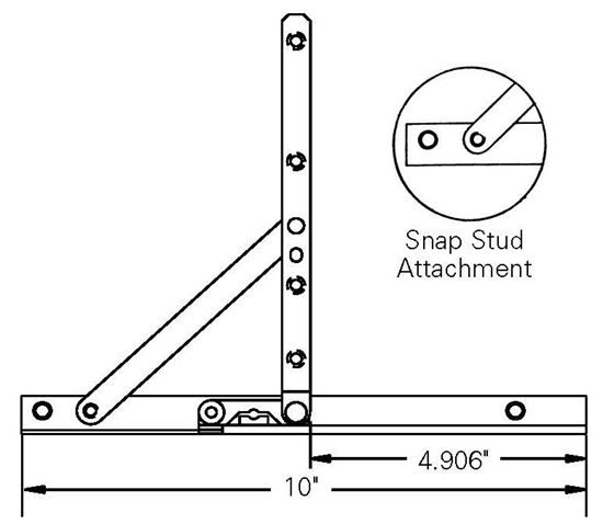 """Picture of ADJUSTABLE HINGE AND 10"""" TRACK SA107"""